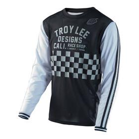 Troy Lee Designs Super Retro jersey lange mouwen Heren Check wit/zwart